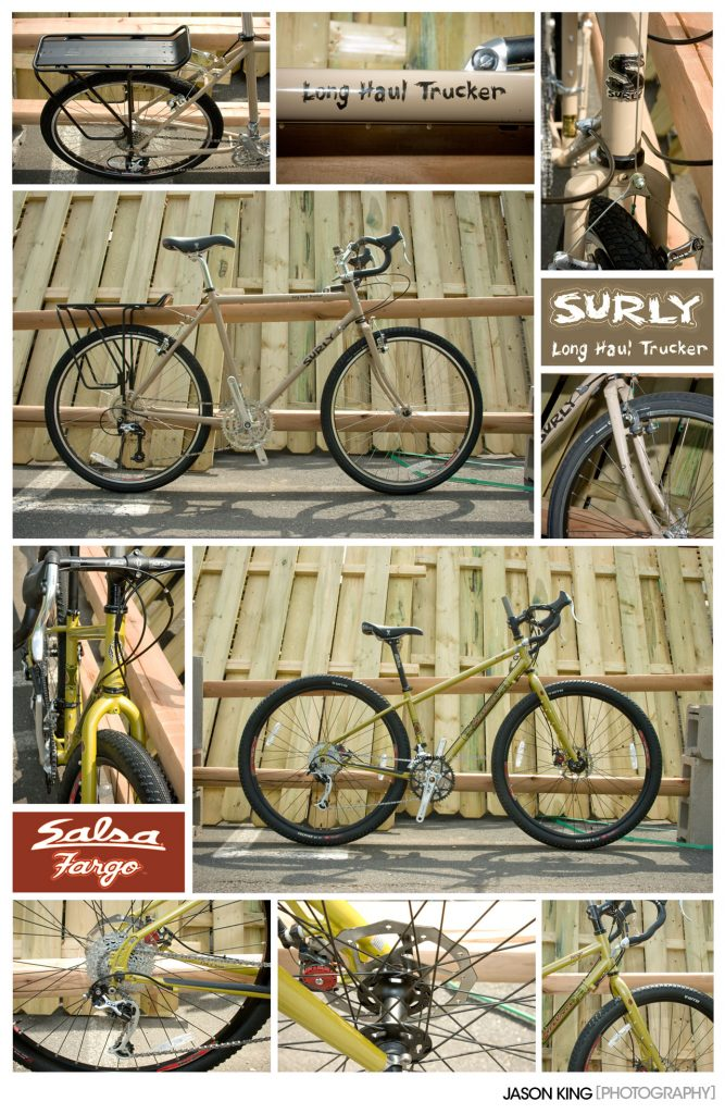 Salsa Fargo and Surly Long Haul Trucker