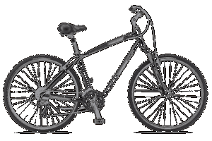 Hybrid bicycle with suspension fork