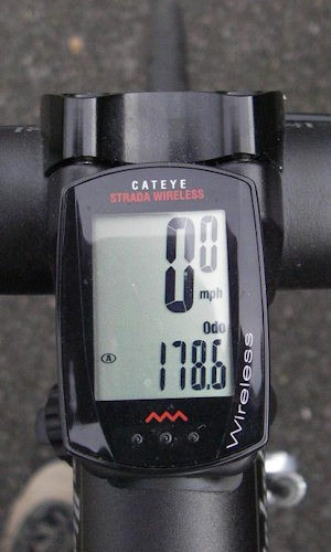 A bicycle computer provides information such as speed and distance cycled.