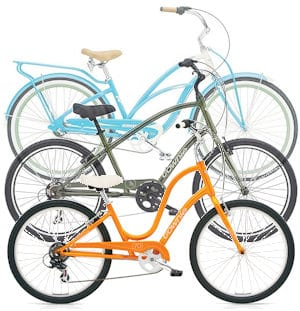 Cruiser bicycles - low seating makes for a very stable rider position ... great for riding on the shore and around your community