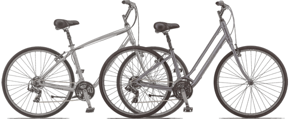 Hybrid bicycles - many people's first choice