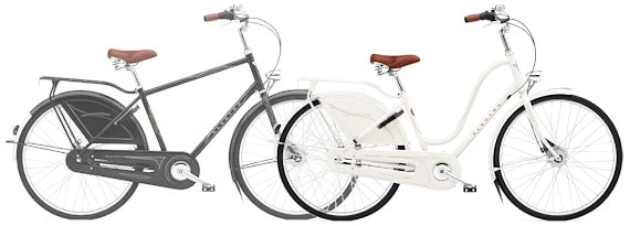 Electra Amsterdams - His 'n' Hers. A traditional interpretation of men's and women's bicycles.