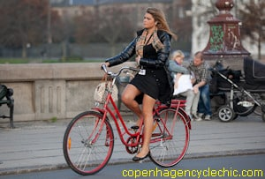 Yes, you too can look elegant in a skirt on a bike