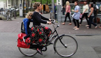 In Amsterdam no-one wears a helmet, but ...