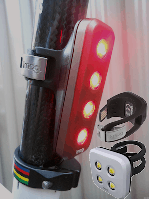 Knog rear lights - available in several formats with integrated USB connector