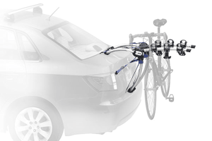 The Trunk Rack - an economical way of transporting up to 3 bikes, but will not fit every car