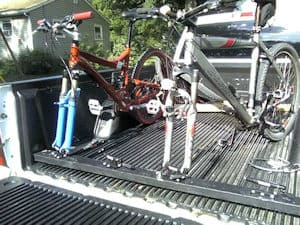 There are several solutions for carrying bikes on trucks