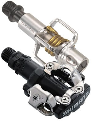 Mountain bike pedals - some brands adjust release tension by means of a small screw