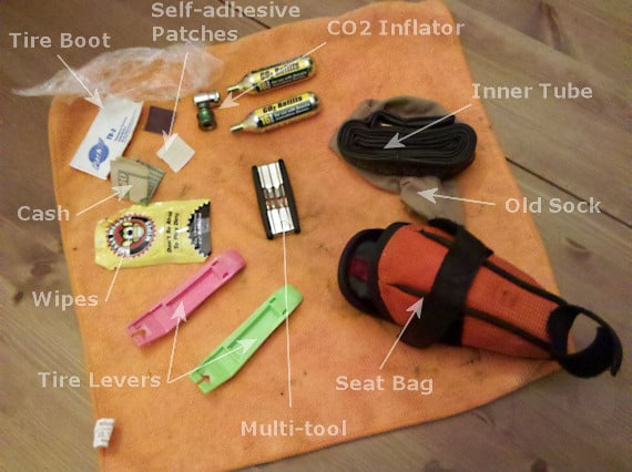 This is what's in my seat pack for my regular road ride.