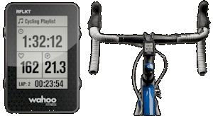 The Wahoo RFKLT uses your phone's computing capacity and displays data  on your handlebars