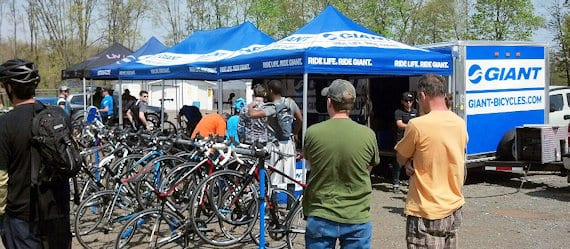 Another busy day at the Giant bike demo