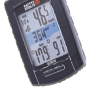 Designed for the competitive cyclist, the Stealth 50 is GPS and ANT+ enabled, so it works with CatEye or third party ANT+ compatible power, heart rate, cadence and speed sensors.
