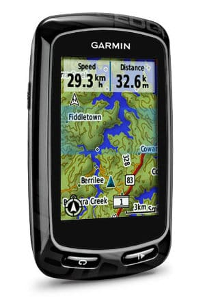 Garmin Edge 810 with map on screen
