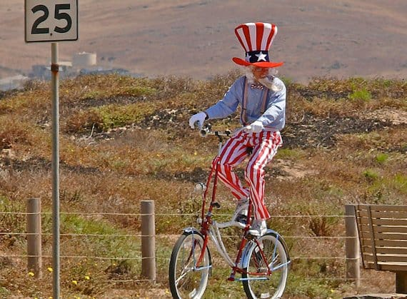 Join Uncle Sam ... ride a bike ...