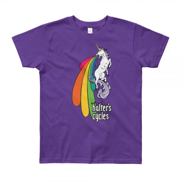 Halter's Cycles Rainbow Unicorn Youth T-Shirt 1