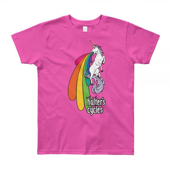 Halter's Cycles Rainbow Unicorn Youth T-Shirt 6