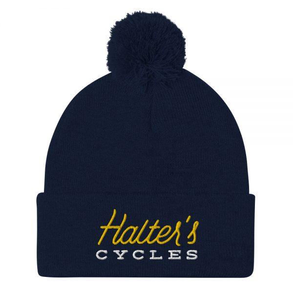 Halter's Cycles Pom-Pom Beanie 5