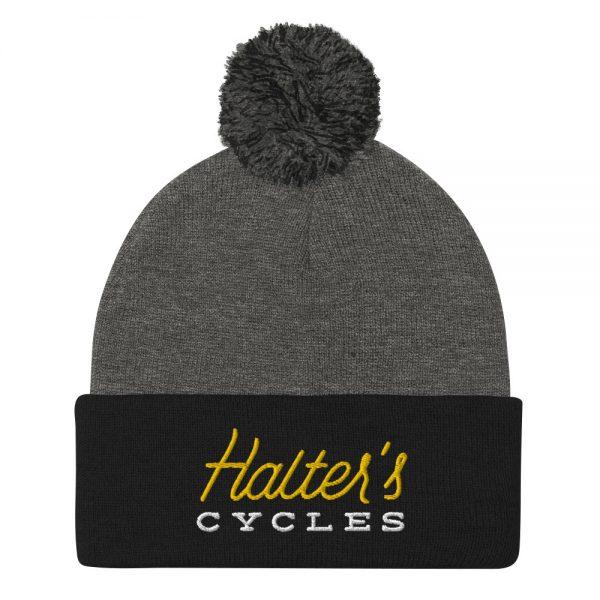 Halter's Cycles Pom-Pom Beanie 3