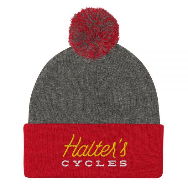 Halter's Cycles Pom-Pom Beanie 4